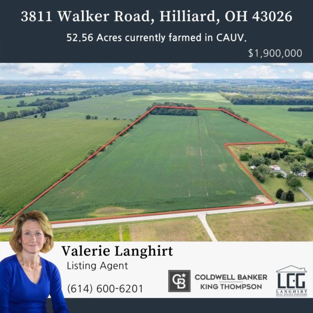 52.56 Acres! Build your dream house, farm the land...the options are endless.  View Listing: https://rb.gy/sd3rtc